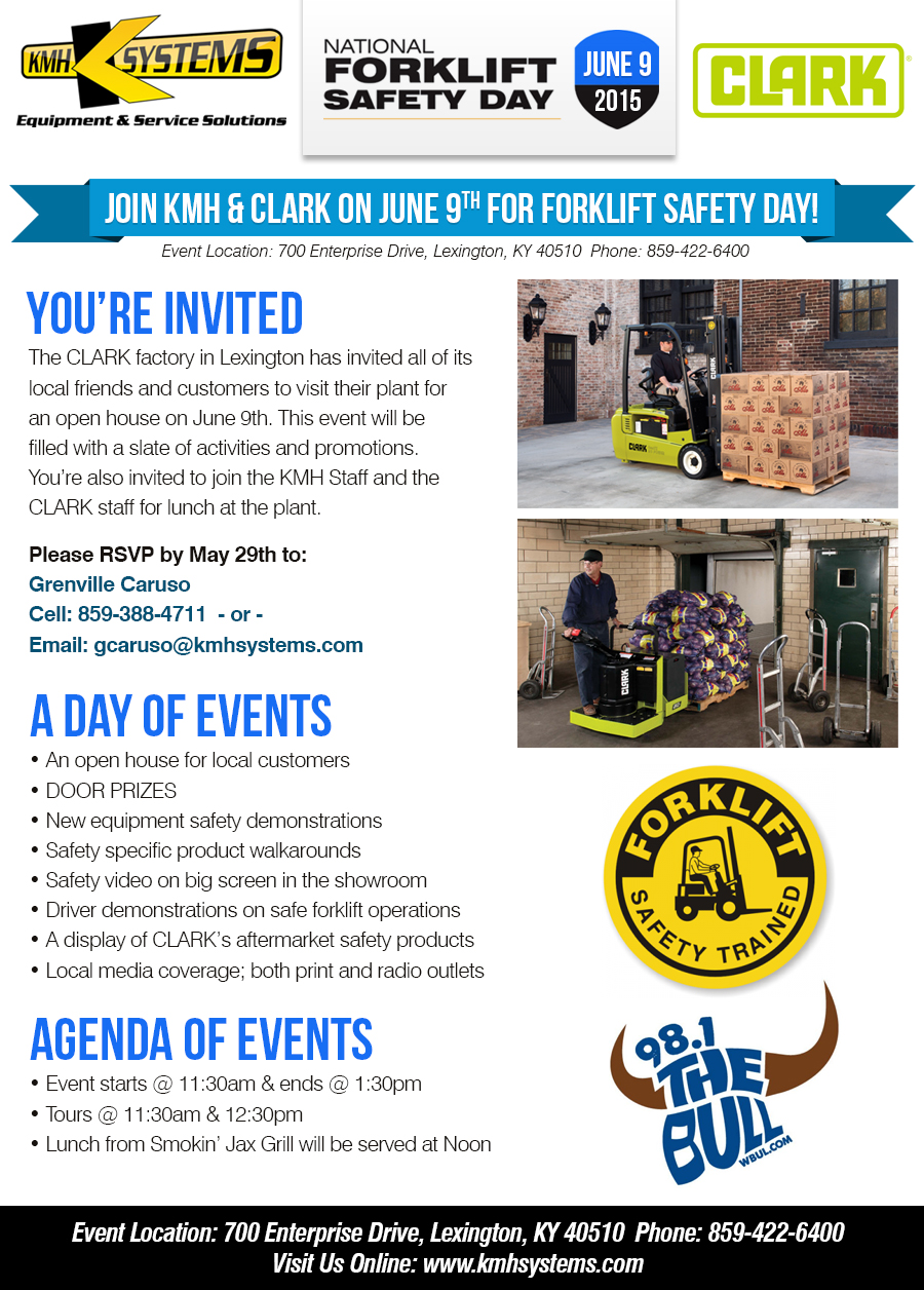 National Forklift Safety Day Event Kmh Systems