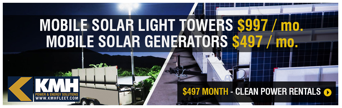 Mobile Solar Light Towers For Rent